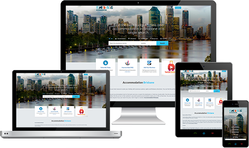 Accommodation Brisbane displayed beautifully on multiple devices